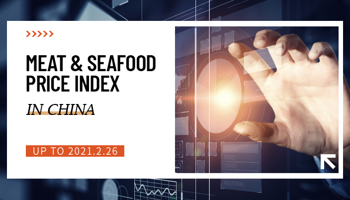 Meat and seafood price index in China (Up to 2020.2.26)
